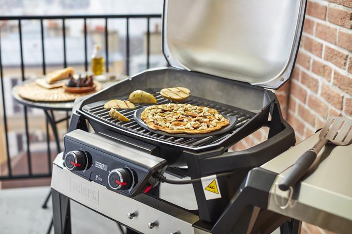 Weber Elektrogrill Mit Pizzastein : Weber pizzastein zur serie pulse grillshop