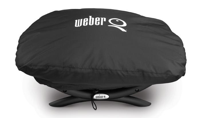 Weber Elektrogrill Q 1400 Untergestell : Abdeckhaube q und q serie in schwarz passend für grill