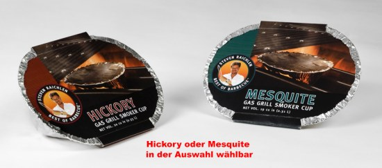 Räucherchips in V-Shape Box für Gasgrill